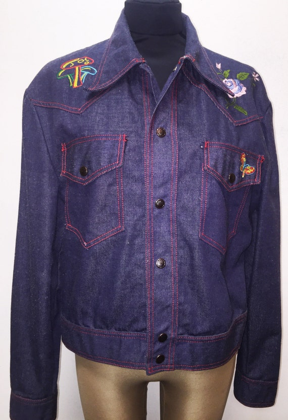 Vintage 1970's Embroidered Denim Jacket