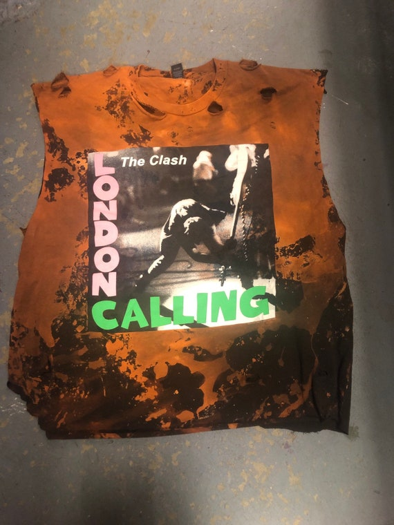 Custom  Distressed The Clash Tshirt