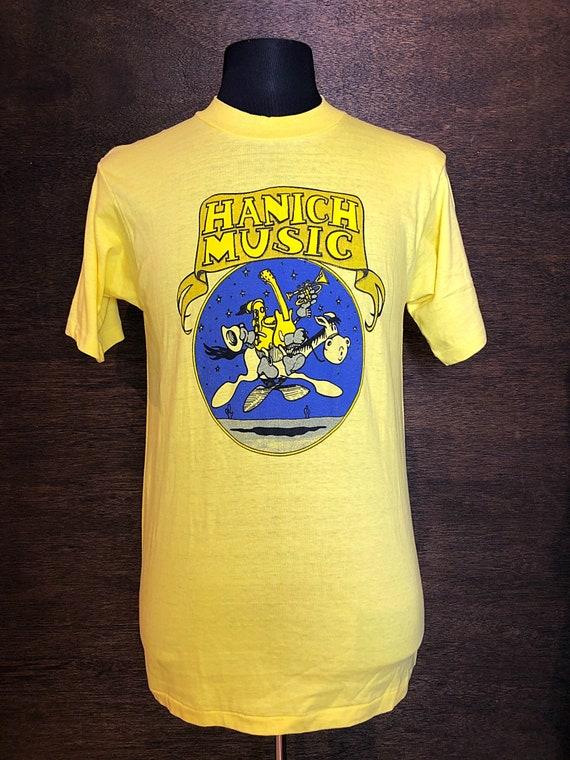 Authentic Vintage 1970's  Hanich Music Tshirt
