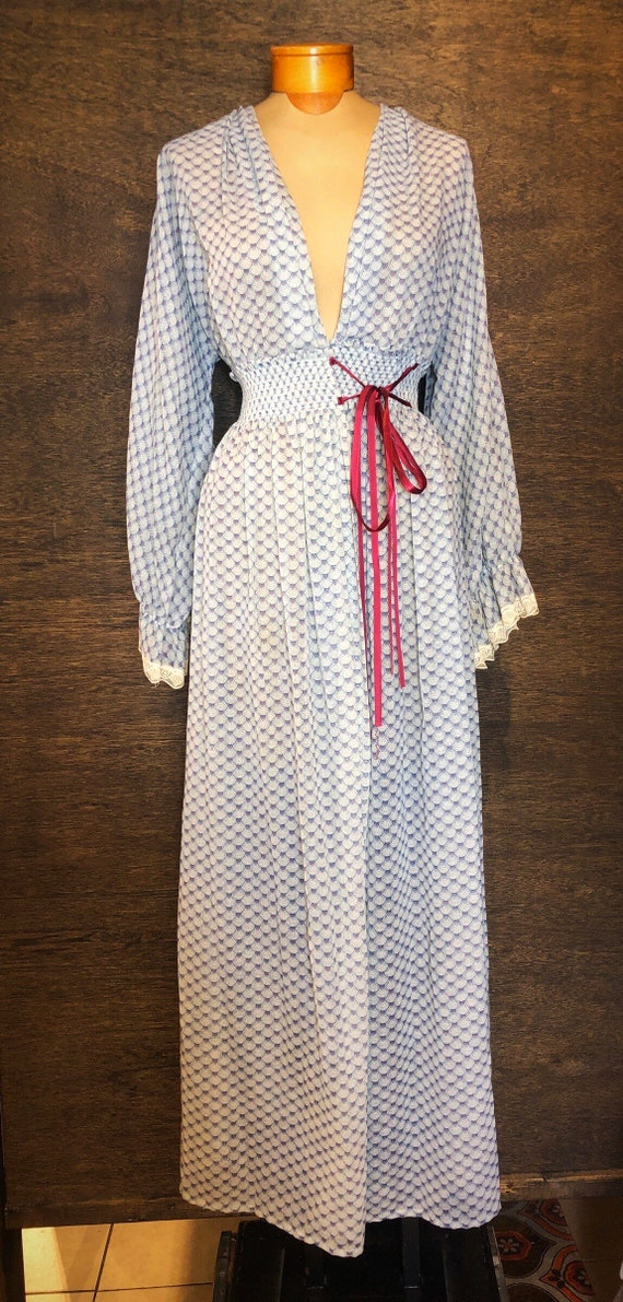 Beautiful 1970's Prairie Boho Dress