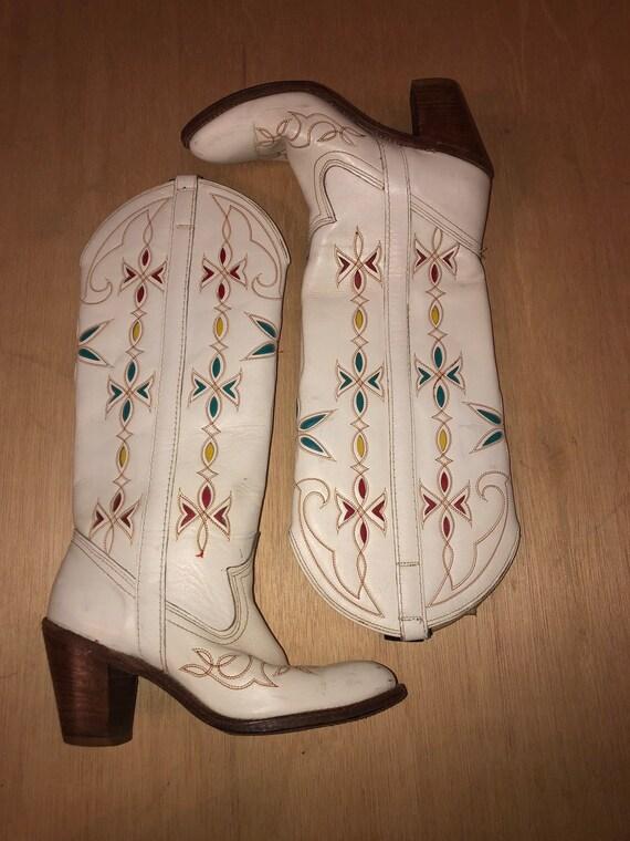 Womens Vintage Dingo Cowboy Boots With Super Cool