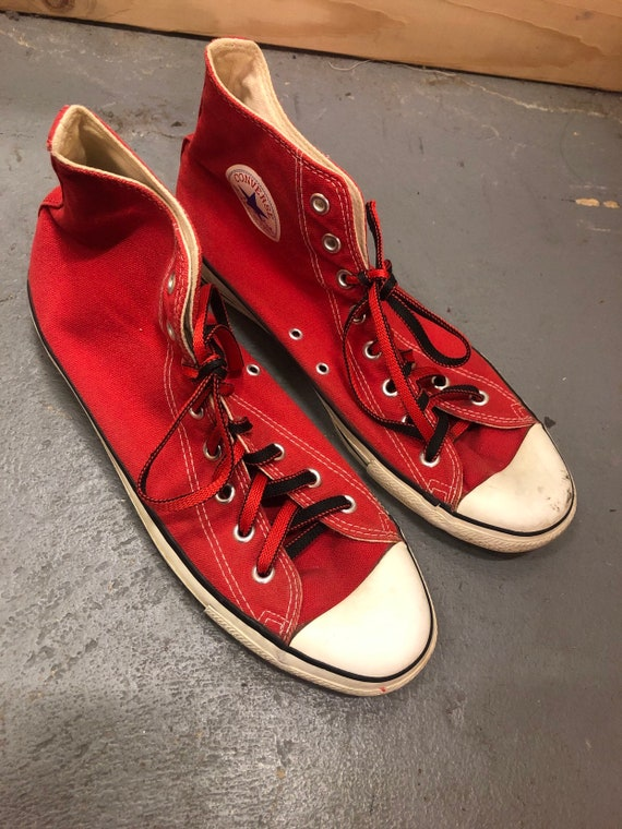 Vintage Red Converse All Star HighTops