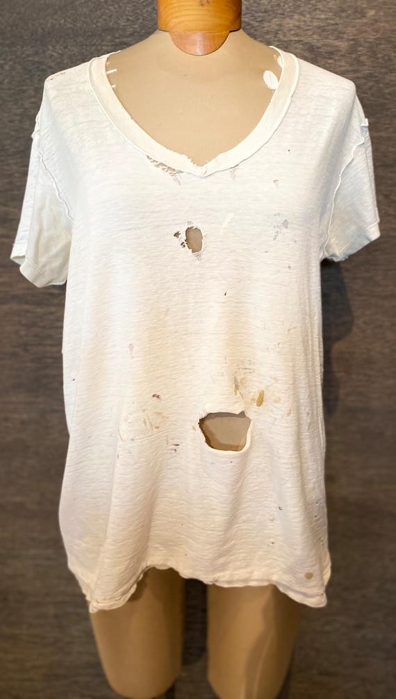 Vintage 80's Paper Thin Hanes Thrashed Tshirt