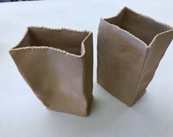 Paper Bag Vase - Medium