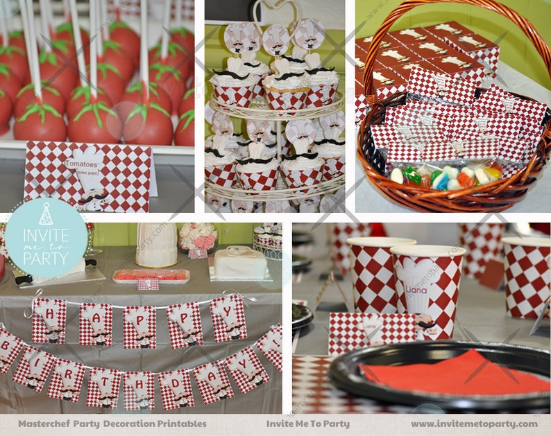 image relating to Printable Decorations named Masterchef Social gathering Printable Decorations Cooking Celebration Decorations Chef Social gathering Decorations Baking Bash Printable Decorations