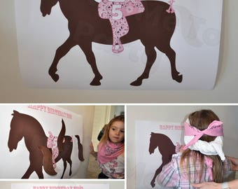 Pin the Tail on the Horse Cowgirl PRINTABLE