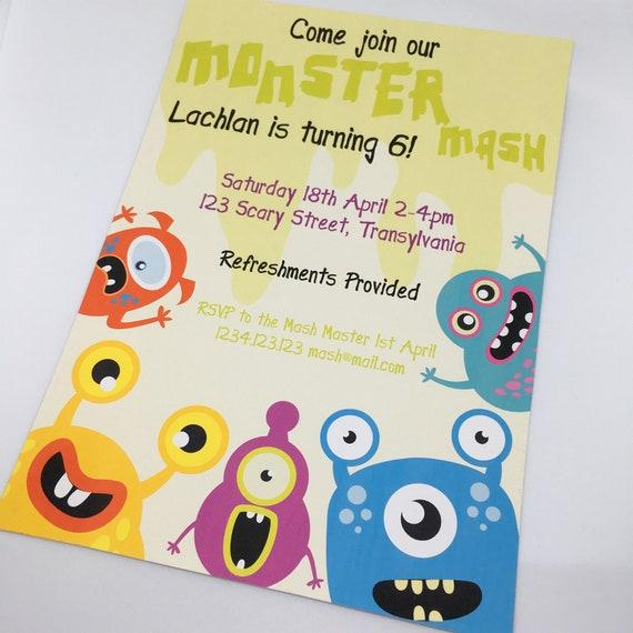 picture regarding Mash Printable named Monsters Mash Printable Celebration Invitation Template, 5x7within
