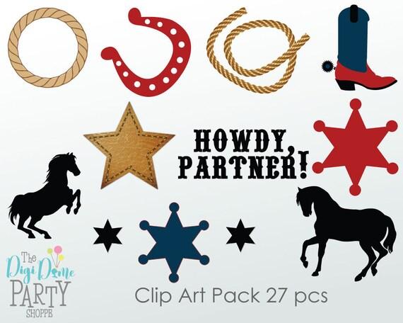 Western Rodeo Cowboy Digital Scrapbooking Clip Art Buy 2 Get  fb1db40aee9