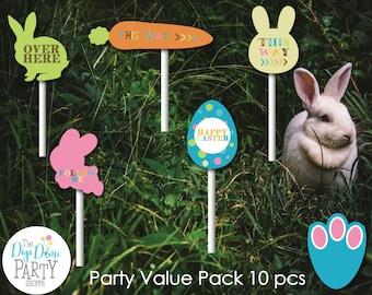 Easter Egg Hunt Party Printable Mini Pack, Instant Download