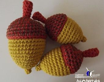 PATTERN - Acorn - crochet pattern - acorn crochet pattern - amigurumi acorn crochet pattern, 2 sizes. pdf