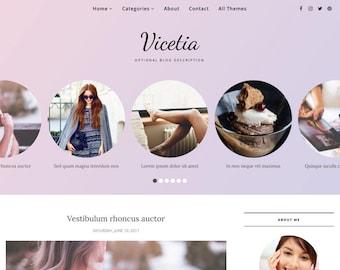 Blogger Template Responsive, Blogger Theme, Minimal, Slider, Simple, Photography, Template for Blogger, Premade, Blogspot - Vicetia