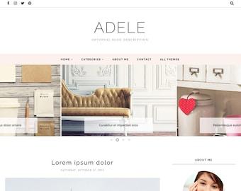 Blogger Template Responsive, Blogger Theme, Minimal, Slider, Simple, Photography, Template for Blogger, Premade, Blogspot - Adele