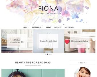 Blogger Template Responsive, Blogger Theme, Minimal, Slider, Simple, Photography, Template for Blogger, Premade, Blogspot - Fiona