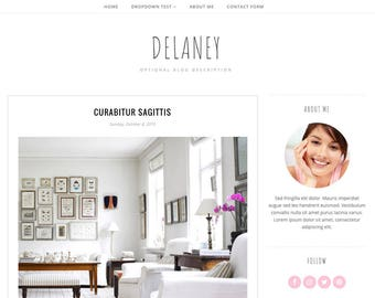 Blogger Template Responsive, Blogger Theme, Minimal, Simple, Photography, Template for Blogger, Premade, Blogspot - Delaney