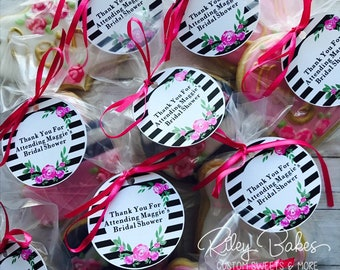 108 Valentine/'s Day Kisses Labels Valentine Party Favor Kate Spade Inspired