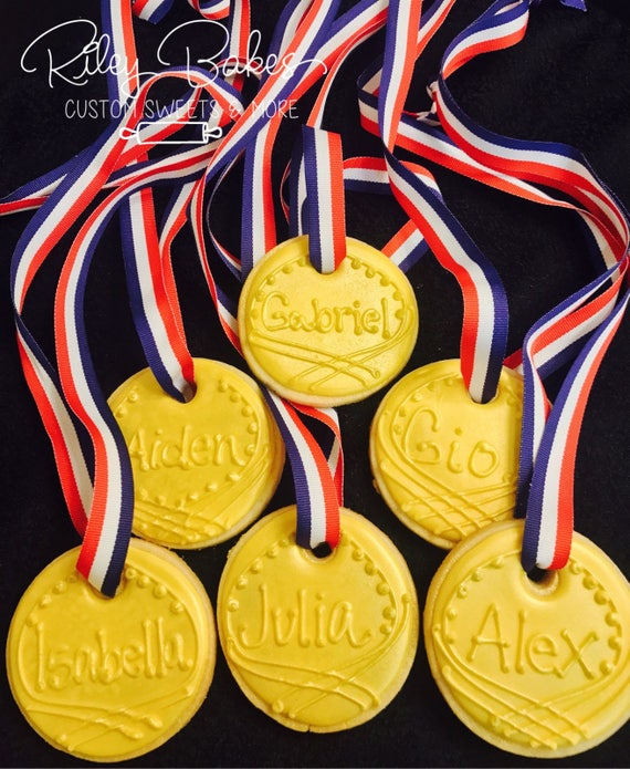 Gold Medal Cookies, Olympics Party, Ninja Warrior Birthday