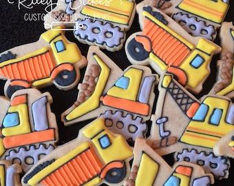 Construction Cookies, Construction Trucks Party, Trucks Birthday Party Favors, Construction  Cake, Trucks Cookies