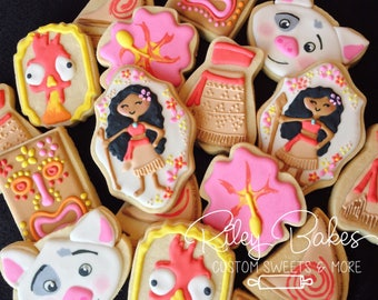 Moana Cookies, Moana Party, Moana Birthday Party Favors, Moana Cake,