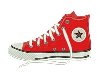 cd30ef12b8ea Converse Shoe Appliqué Embroidery Design Machine Applique Embroidery  Designs 5 Size - INSTANT DOWNLOAD