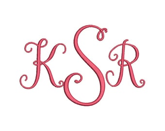 stylish 3 letter monogram font machine embroidery monogram alphabet designs 3 size bx embroidery fonts instant download