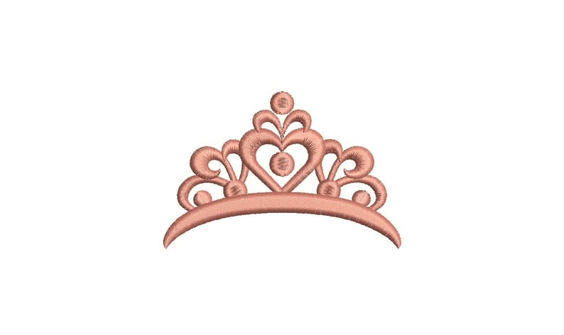 SALE Princess Crown Embroidery Design Machine Embroidery image 0