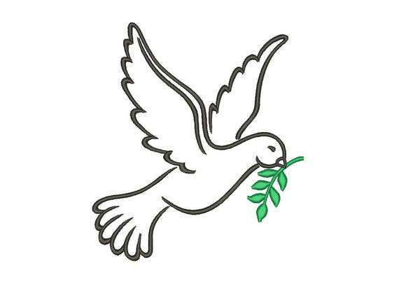 Sale Peace Dove Embroidery Designs Bird Embroidery Designs Etsy