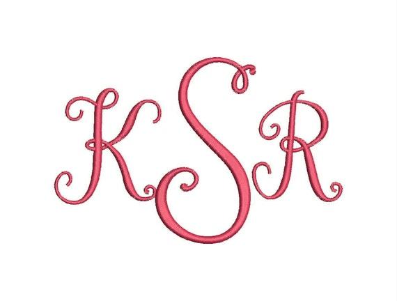 SALE!! Stylish 3 Letter Monogram Font Machine Embroidery Monogram Alphabet  Designs 3 Size Bx Embroidery Fonts - INSTANT DOWNLOAD