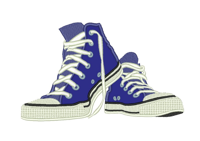 29ee2a302687 SALE Converse All Stars Shoes Appliqué Embroidery Design