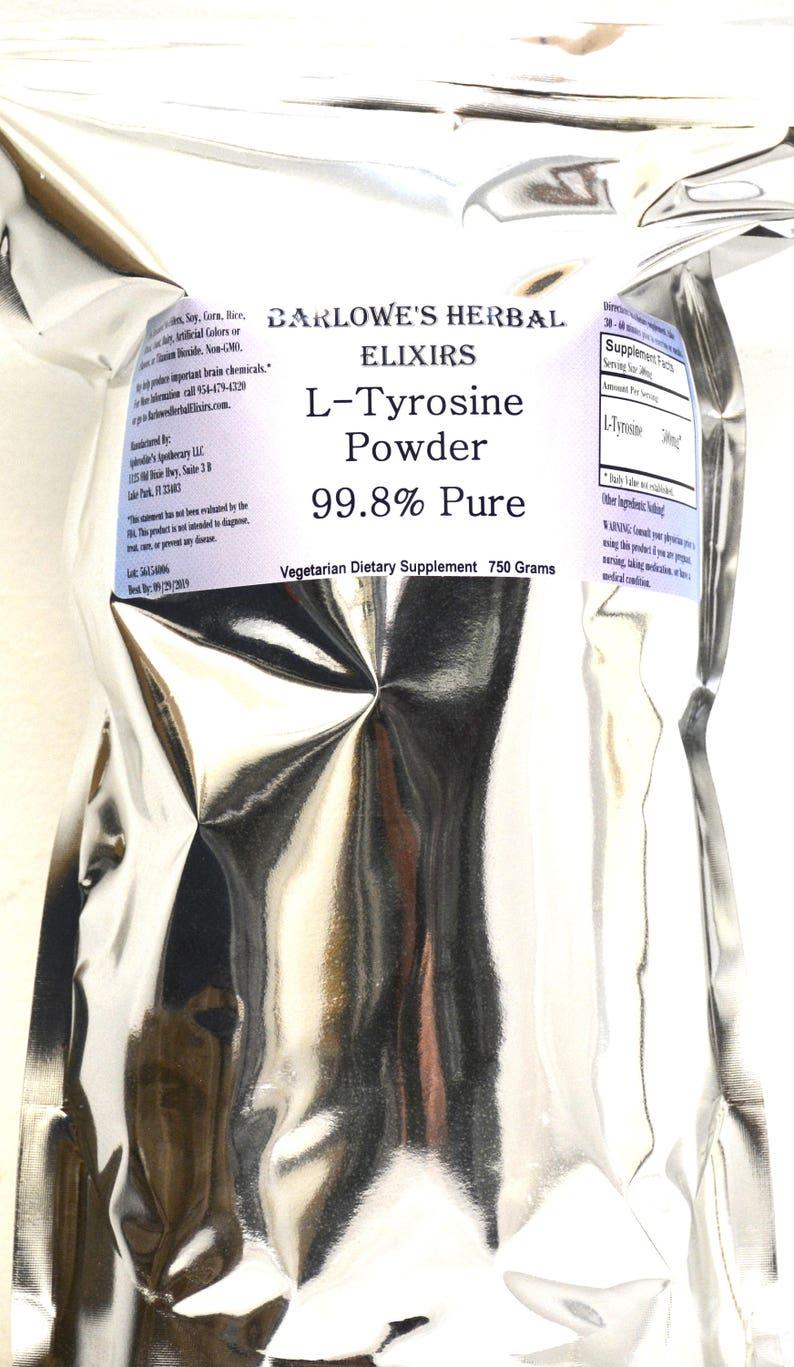 L-Tyrosine Bulk Powder - 750 Gram Foil Pouch - 99 8% Pure