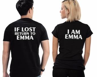 35358e8e5a If lost return me to, Couples T-Shirts, couples shirts, Gift For him, Gift  For her, Gift for Couples, Custom Shirts, Heat Transfer Vinyl