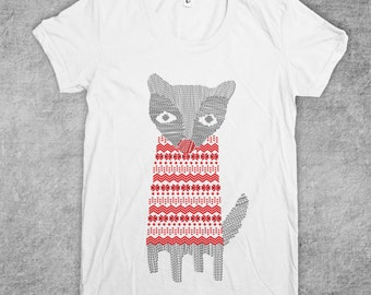 Fox Sweater Women's American Apparel T-shirt