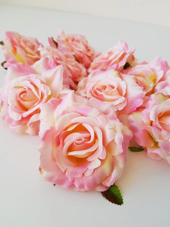 Soft Pink 10 Silk Roses Artificial Roses Silk Flowers Silk Etsy