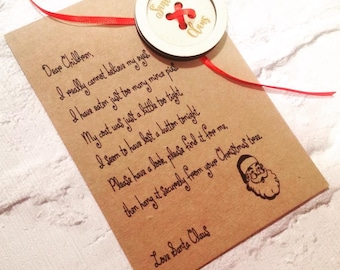 Home, Furniture & DIY Santa's lost button & Personalised poem scroll Novelty Christmas gift for kids Other Party Items & Supplies
