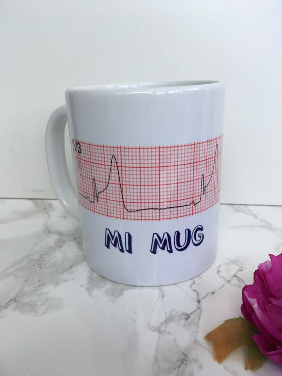 MI mug - Heart attack - ecg cardiac nurse cardiology gift - printed mug