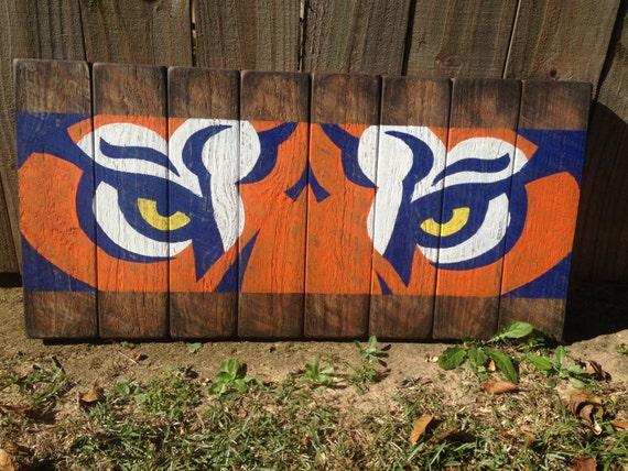 Reclaimed Wood Auburn Tigers Wall Art | Etsy