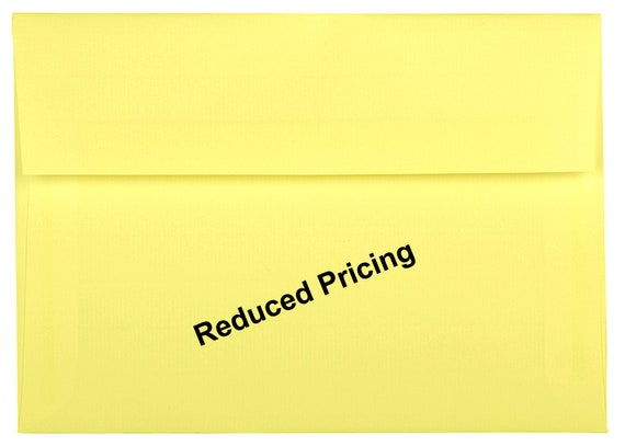 4-3//4 x 6-1//2 Canary Yellow Pastel 50 Boxed A6 Envelopes for 4 x 6 Greeting Cards Invitations Announcement Showers from The Envelope Gallery