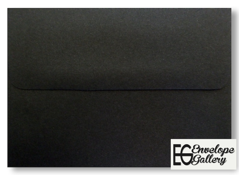 Black Smooth Finish 100 Boxed Envelopes for Invitations Parties  Response Announcement Wedding Enclosures Shower Greeting Cards A2 A6 A7