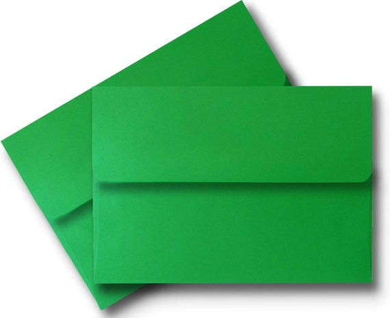holiday green a7 envelopes for 5 x 7 invitations etsy