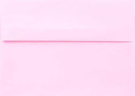 Greeting Cards from The Envelope Gallery Pink Pastel 25 Boxed A7 5-1//4 x 7-1//4 Envelopes for 5 x 7 Invitations Announcements Weddings Showers