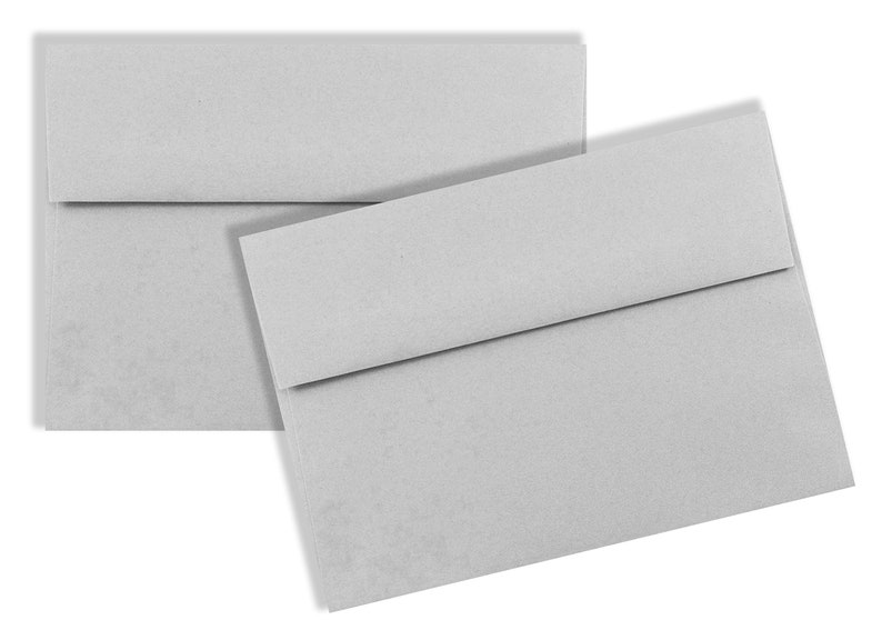 Pastel Gray 50 Boxed Envelopes for Invitations Announcements Response Greeting Cards Enclosures Showers Weddings Communions A1 A2 A6 A7 Grey