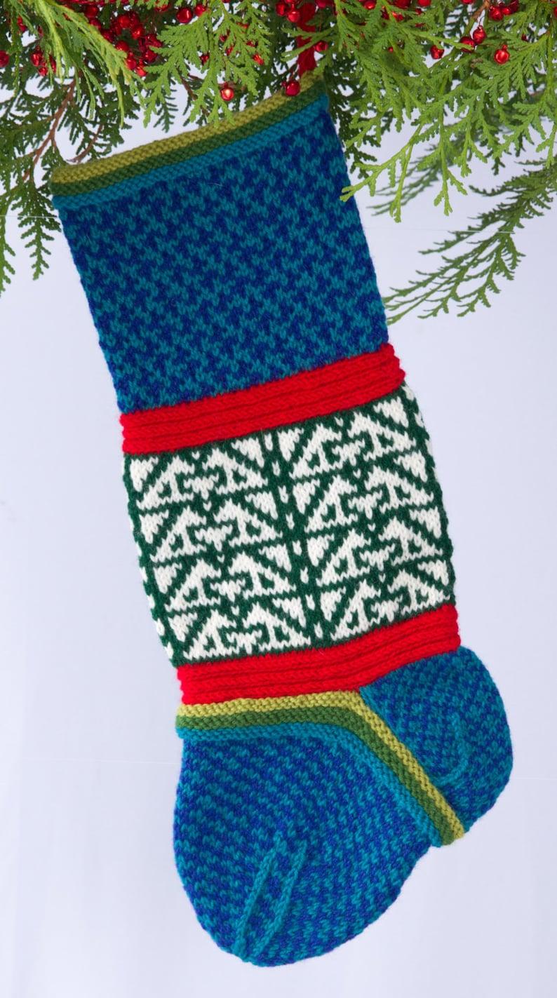Hand-knit Christmas Stocking Rex