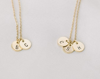 Initial Necklace, Gold Initial Necklace, Double Initial Necklace, Two Initials Jewelry, Family Necklace, Personalized Necklace, Custom