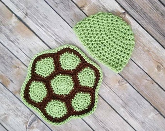 Newborn Turtle Outfit | Baby Turtle Outfit | Baby Turtle Costume | Crochet Turtle Outfit| Newborn Photo Prop| New Mom Gift| Baby Shower Gift