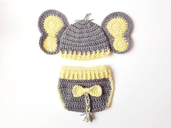 PATTERN Instant Download, Newborn-12 Months Elephant Hat and ... | 428x570