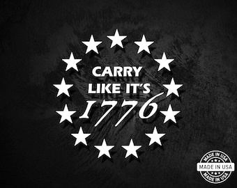 2nd Amendment tattered Flag with Text 13 stars 3/% come take NRA sticker decal
