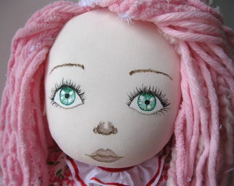 Set cloth doll 19'' and clothing