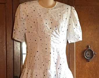 Bruce Wayne Vintage 80s polka dot dress, modern Size 6, approximately