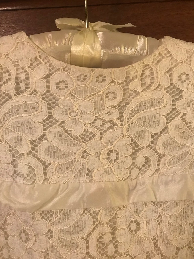 1970s Lace Flower Girl Dress