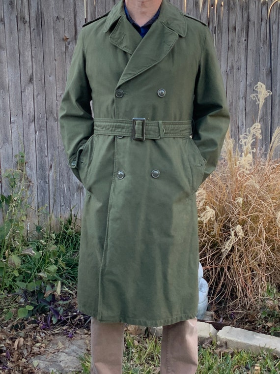 Vietnam Army Overcoat w/ removable liner, Size Sma