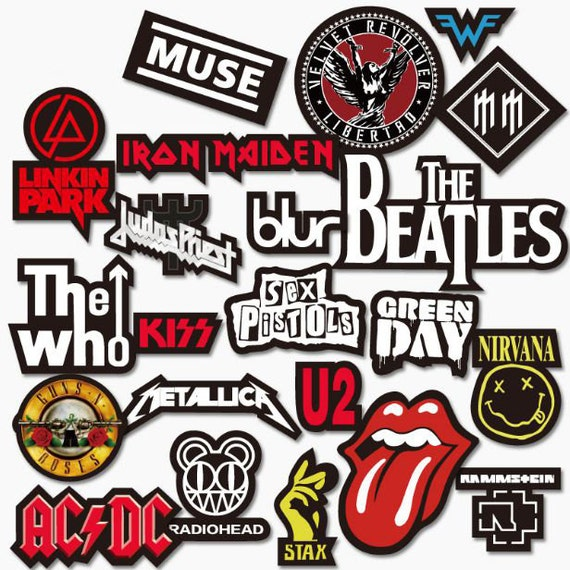 Cool rock band guitar sticker unique design decorative decals